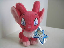 "Neopets Plush 6"" Stuffed Animal Red Acara"