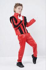 # Michael Jackson Superstar Music Pop Star Kinder Promi rot Kostüm 4 Größen