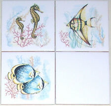 "Fish Ceramic Tile Mural Accents Star Fish Sea Horses Backsplash 3 of 4.25"" AO"