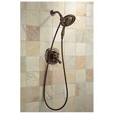Chrome Showerhead HandShower Two In One 4 Spray Easy Bathroom Shower Upgrade
