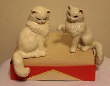 "Ceramic Arts Studio ""Persian Cat Family"" #208 ""Tom Cat"" Shelf Sitters X 2"