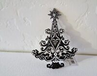 "Gorgeous Mirrored ""Christmas Tree"" Ornaments-Black/Silver Embellishments"