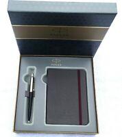 PARKER Geschenk Set  Kugelschreiber Notizblock im Etui mit Persönlicher Gravur