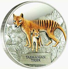 2011 TUVALU Endangered & Extinct: $1 TASMANIAN TIGER 1oz SILVER PROOF COIN
