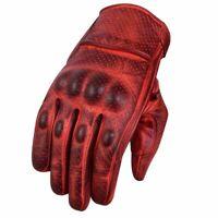 Gants de moto d'été, gants de motard vintage, gants de motard en cuir, S-2XL