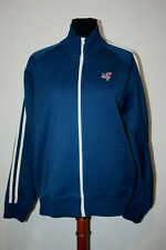 Abercrombie & Fitch Muscle Fit Navy Blue Track Suit Jacket Winged Foot Sz XL