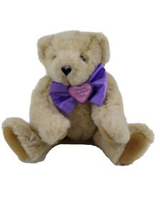 """""""Happy Mother's Day"""" Authentic Vermont Teddy Bear 17""""Jointed Bear purple bow"""