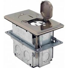 Orbit FLB-D-SS Floor Box Pop-Up with Duplex Receptacle Stainless Steel