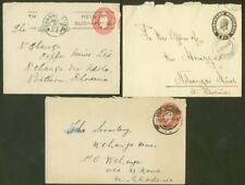 Northern Rhodesia 1930-1 stationery envelopes x3/Mines