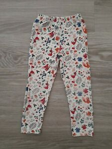 Girls Fox Woodland Animals Leggings Age 3-4 Years TU