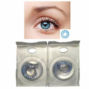 Light blue Contact lens Zero Power Free Lens Solution for Sexy eye party