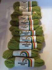 Lot - 11 Skeins Of New Vintage Scovill Dritz Quickpoint Yarn Spring Green