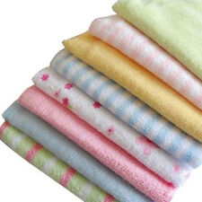 CF88 Baby Face Washers Hand Towels Cotton Wipe Wash Cloth 8pcs/Pack