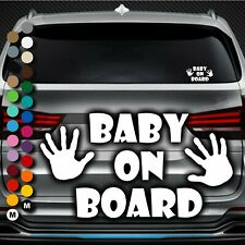 A142# Aufkleber Baby on Board Kind an Bord Tour Hand Hände Kids Kinder Sticker