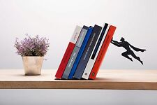 ARTORI Design Book & Hero Bookend Black Metal Superhero Book End Stopper Holder