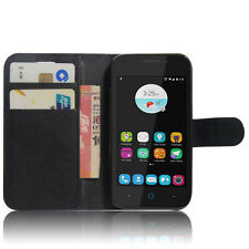 Black Wallet Leather Case Cover For Optus 4G ZTE ZIP / ZTE Blade A110