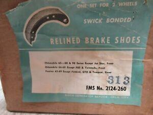 Relined 1965-70 Checker-Oldsmobile-Pontiac  BRAKE SHOES  FRONT