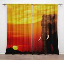 Curtain For Living Room Rod Pocket Curtain Door Double Panel Drapes-DCTI379A