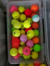 Assortment of Used Colored Golf Balls(15 per auction) Callaway, Titleist etc.