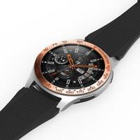 Nice For Samsung Galaxy Watch 46MM Bezel Ring Adhesive Scratch Anti Metal O9Y7