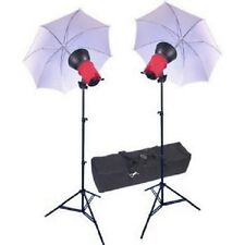 RPS Studio 2-Light Continuous Quartz Kit RS-5500 Bag Stands Umbrellas - NEW S11