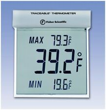 Fisher Scientific - Traceable Big-Digit See-Through Thermometer, Temps Monitor