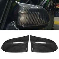 2x R+L Carbon Fiber Außenspiegel Kappen Gehäuse Abdeckung Für BMW X5 X6