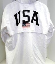 Polo Sport Ralph Lauren USA Flag Pullover Hooded Jacket Front Pocket Men's L