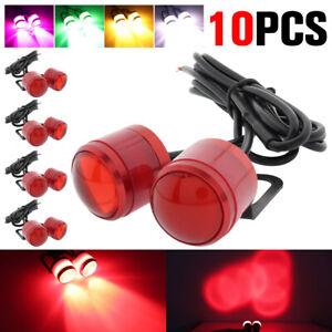 10x Red Eagle Eye LED Daytime Running DRL Car Rock Strobe Lamp Tail Backup Light