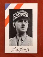 Général de Gaulle Guerre 39/45 Document Imprimé en 1943 à Londres France Libre