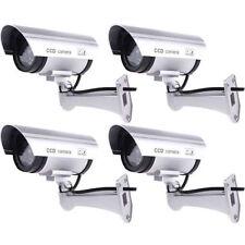 4 Pack IR Bullet Fake Dummy Surveillance Security Camera CCTV & Record Light