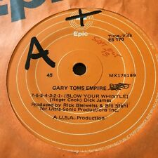 GARY TOMS EMPIRE...BLOW YOUR WHISTLE - - Rare 1977 Australian RADIO STATION 7""