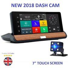 "New 7"" HD 1080P Android Dual Lens Car DVR GPS Nav Rearview Dash Cam Camera Wifi"