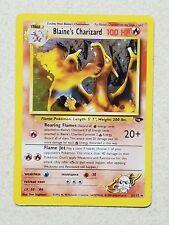 Pokemon Blaine's Charizard 2/132 Gym Challenge Holo Rare FIGHTING ENERGY MISPRIN