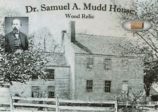 DR SAMUEL MUDD House Wood Relic Abe Lincoln John Wilkes Booth Historic Civil War