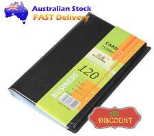 120 Leather Business Name ID Credit Card Holder Booklet Folder Wallet Organizer