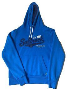 Blue Saltrock Logo Hoodie. Mens Size Small