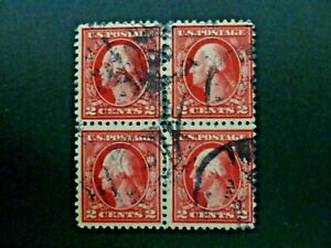 1917 $.02 Washington #499 Used Block of Four - See Description & Images