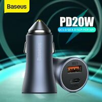 Baseus 40W PPS Dual Quick Charging Car Charger PD Adapter For iPhone 12 Samsung