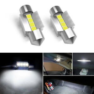 LASFIT 2x 31MM DE3175 LED Interior Dome Ceiling Read Light Bulb for Honda Nissan