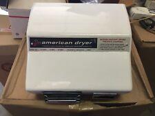 American Dryer AM1 Hand Dryer, White, NOS.