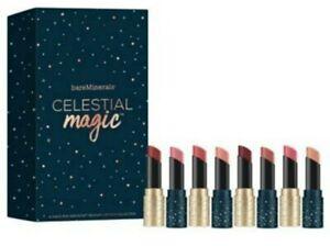 New in Box bareMinerals Celestial Magic 8pc Mini Radiant Lipstick Collection $36