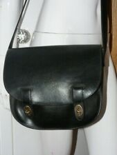 FOSSIL BLACK LEATHER SADDLE CROSS BODY BAG   ** WOW **