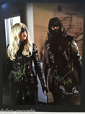 Katie Cassidy John Barrowman Arrow TV Signed Autogragh JSA COA 11 x 14 photo