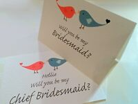 WILL YOU BE MY Bridesmaid / Groomsman / Usher card - Love Bird - can personalise
