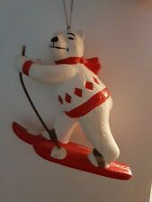 Coca-Cola Polar Bear Skiing Ornament