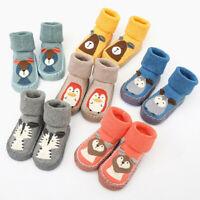 Baby Boy Girls Kids Socks Toddler Anti Slip Sock Shoes Warm Boots Slippers Socks