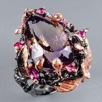 Ametrine Ring Silver 925 Sterling Handmade24ct+ Size 8.5 /R130718