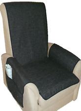XL Sesselschoner Schoner Sesselauflage anthrazit strapazierfähiger Bezugsstoff