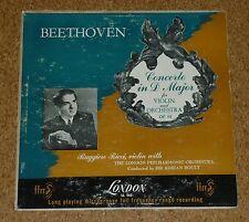 LP RECORD VINILE BEETHOVEN Ruggiero Ricci Violin Concerto Boult Londra ll 562